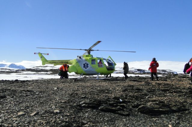 © Hélicoptère en Antarctique - Hans Murre/Oceanwide Expeditions