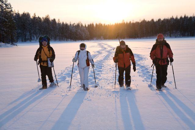 Voyage Raquette à travers la taïga finlandaise