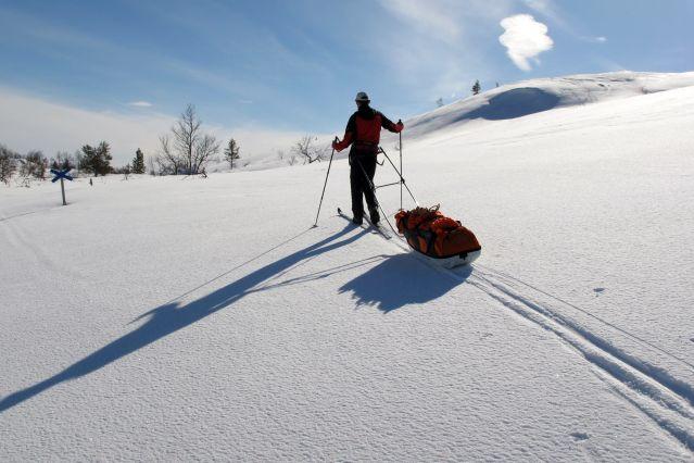 Voyage Ski, pulka et bivouac à travers la Laponie
