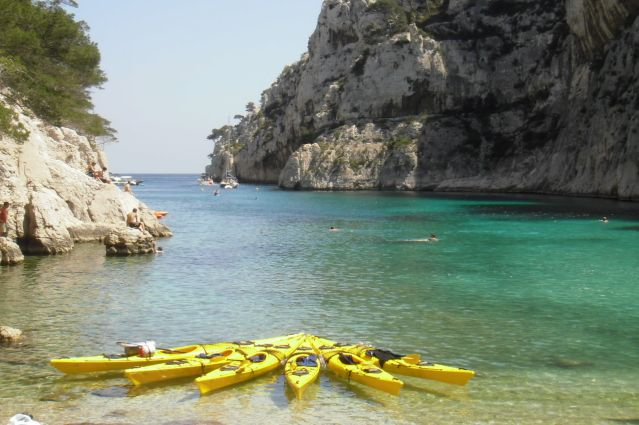 Voyage Week-end d'initiation au kayak dans les calanques