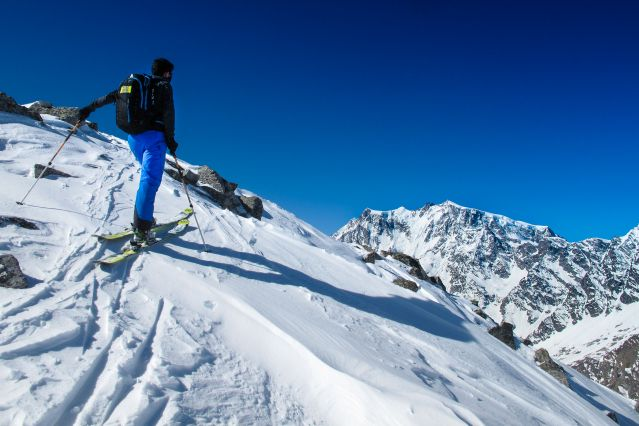Mont Rose à ski - Alpes - Italie