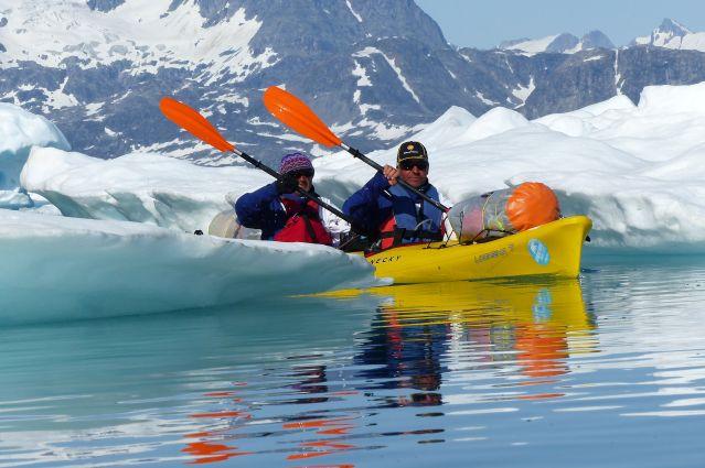 Voyage Raid en kayak au royaume des glaces