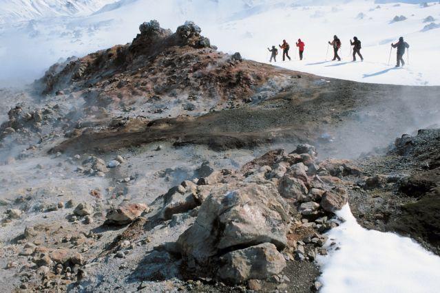 Voyage Randonnée en raquettes entre feu et glace