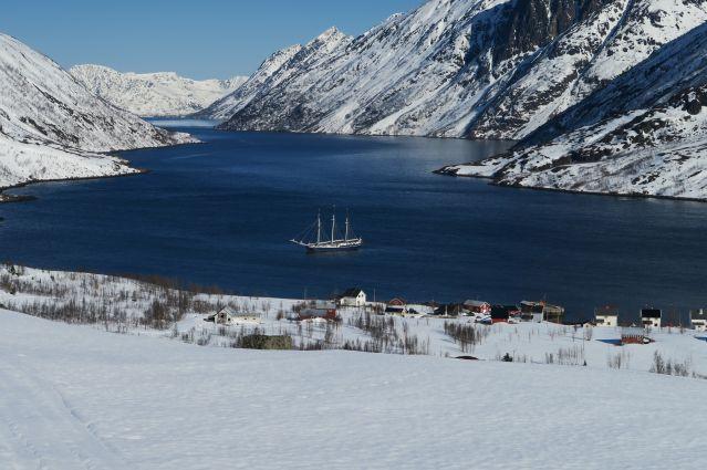 Voyage Ski de rando à bord d'un vieux gréément