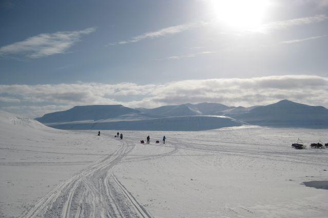 © Dominique Albouy - Randonnée à ski dans le Templefjord - Spitzberg