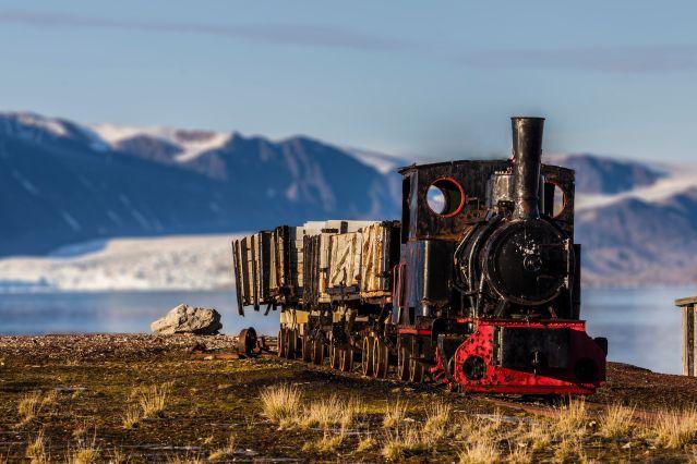 Train - Base Ny-Alesund - Spitzberg - Norvège