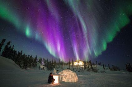 Aurores boréales et découverte du Grand Nord canadien