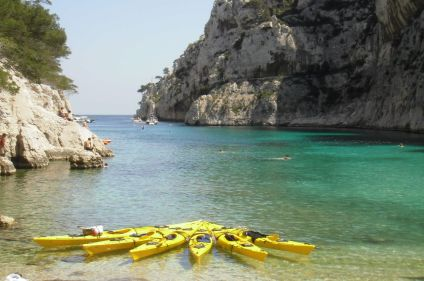 Week-end d'initiation au kayak dans les calanques
