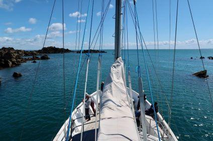 Voile et kayak dans l'archipel de Chausey