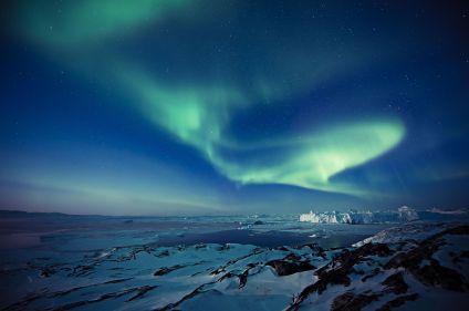 Aurores et icebergs