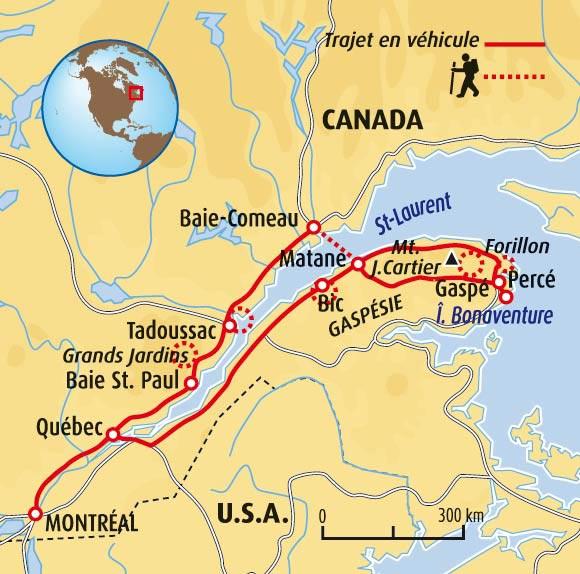 Carte Canada Gaspesie.Decouverte De La Gaspesie